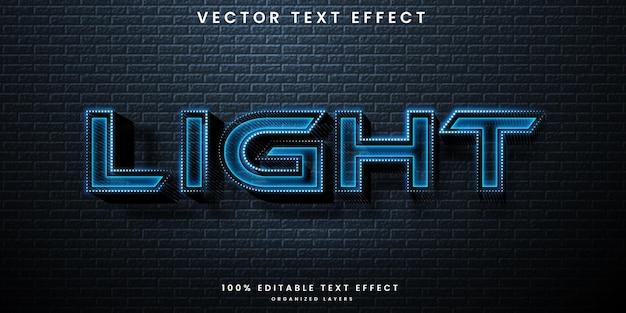 Neon light editable text effect