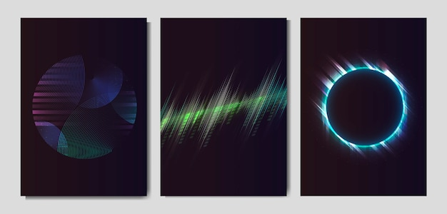 Neon light effect posters