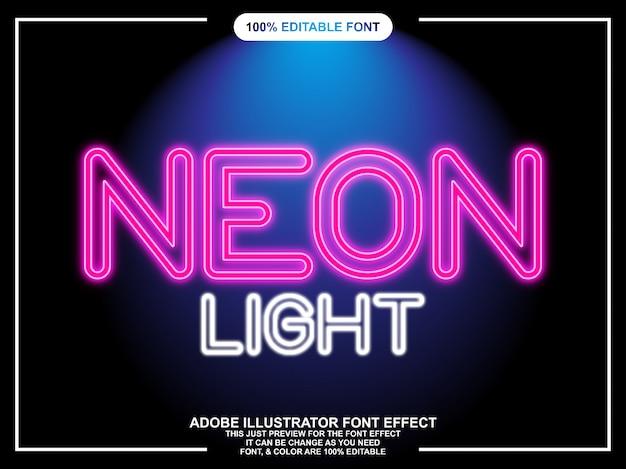 Neon light font effect
