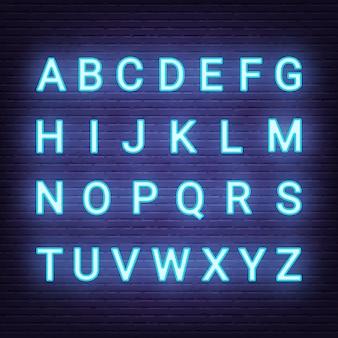 Neon light letters