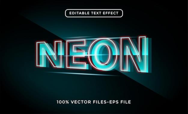 ネオンライトテキスト効果編集可能なレトロで輝くテキストスタイル無料ベクトル