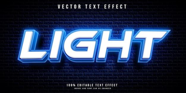 Текстовый эффект неонового света