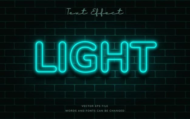 Neon light text effect