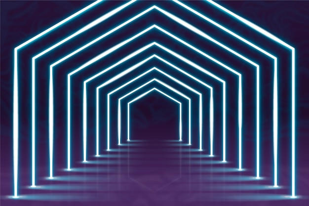 Neon lights abstract background