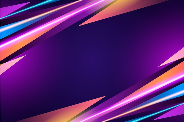 Neon lights background abstract design
