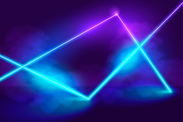 Neon lights background concept