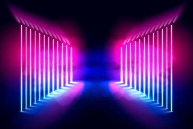 Neon lights background concept