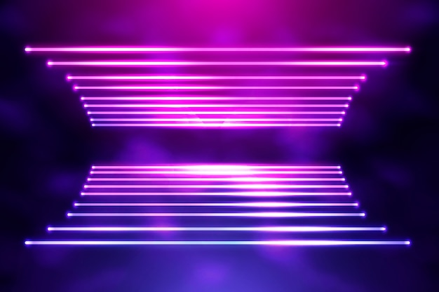 Neon lights background design
