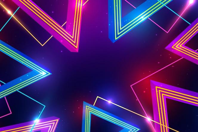 Неоновые огни дизайн фона