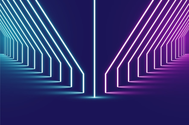 Neon lights background pink and blue