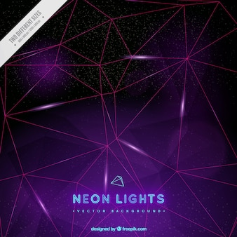 Neon lights background with geometric forms