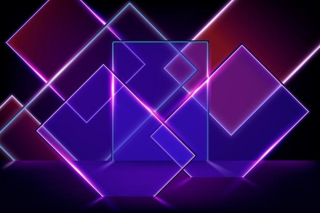 Neon lights geometric shapes background