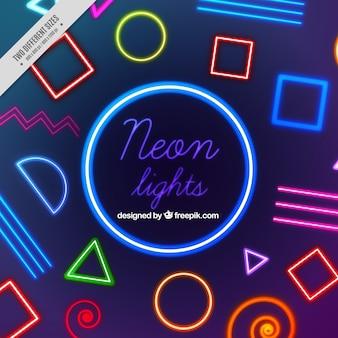 Neon lights memphis sfondo