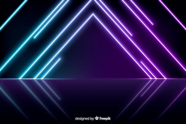 Neon lights stage background