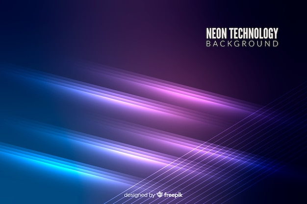 Neon lights technology background