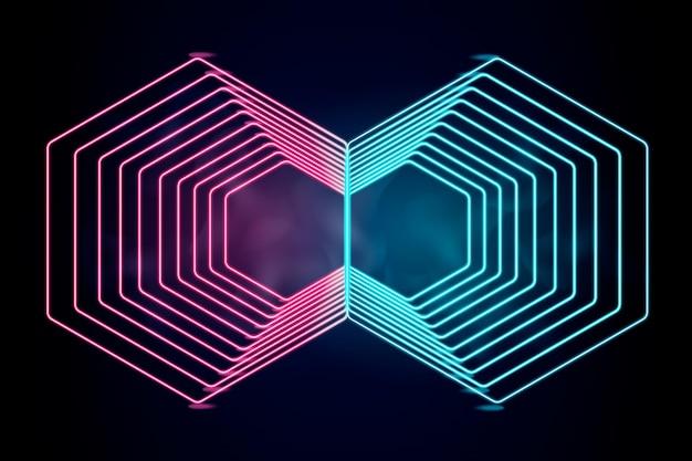 Design della carta da parati con luci al neon