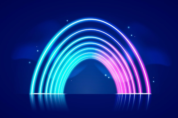 Tema della carta da parati luci al neon