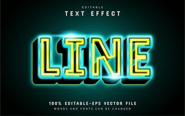 Neon line text effect