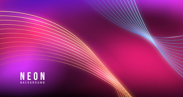 Neon lines abstract background awesome