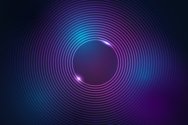 Neon lines background in abstract style