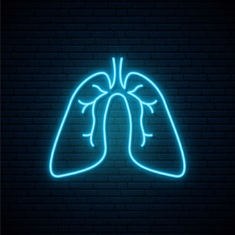 Neon lungs sign.