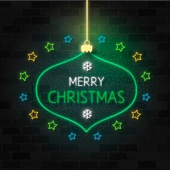 ネオンメリークリスマステンプレート