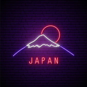 Neon mountain sign
