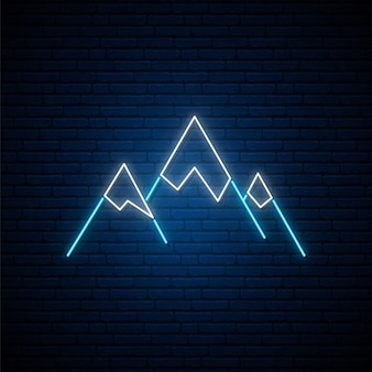 Neon mountains sign.