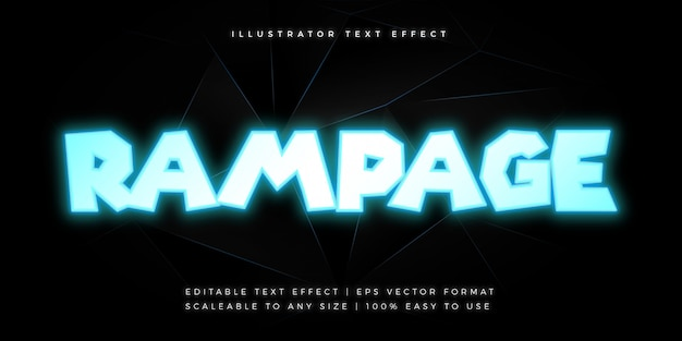 Neon movie title text style font effect