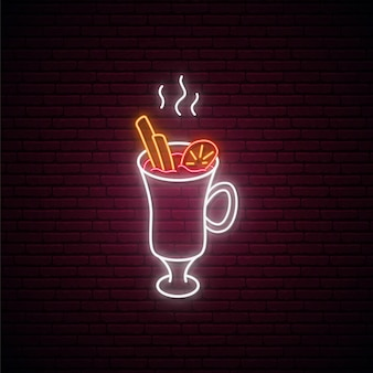 Neon mulled wine sign