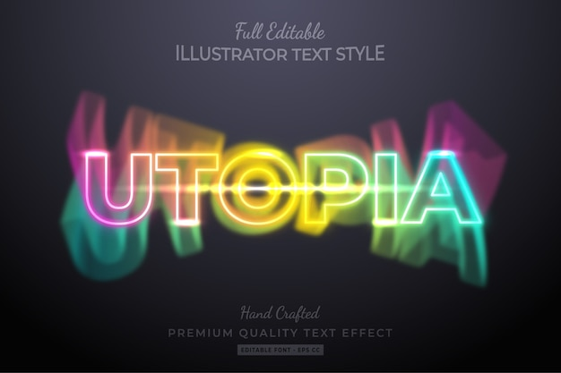 Neon party editable  text style effect premium