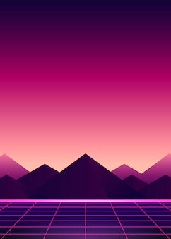 Neon pink ladscape