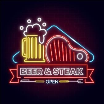 Neon pub and restaurant sign design