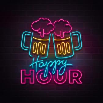 Insegna al neon di un pub o di un ristorante