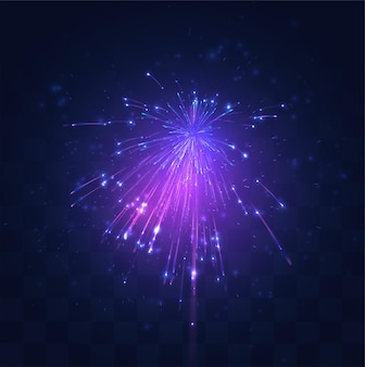 ネオン、交換可能なモザイク上のベクトル花火の紫色のバースト