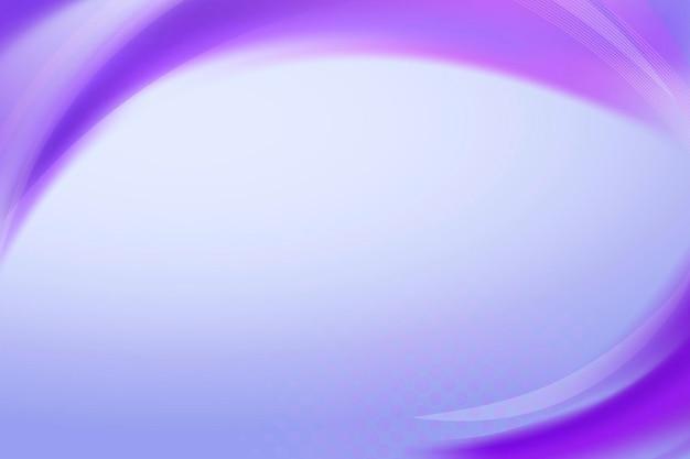 ネオン紫曲線フレームテンプレートベクトル