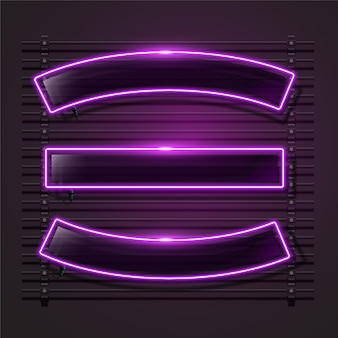 Neon ribbon or frame for banner design.