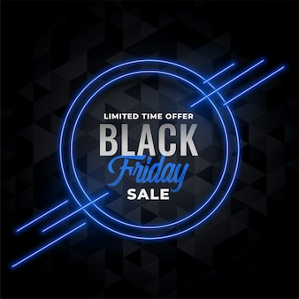 Неоновая распродажа баннера для черной пятницы