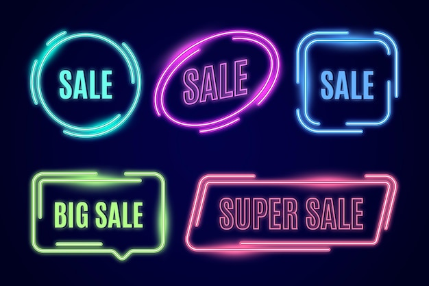 Neon sale sign collection