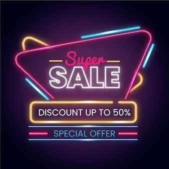 Neon sale sign design collection
