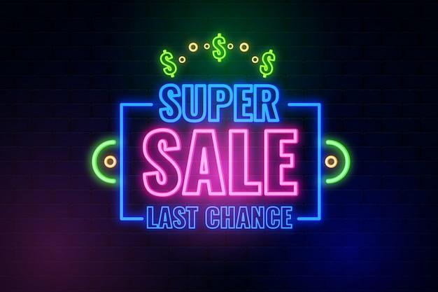 Segno di vendita al neon