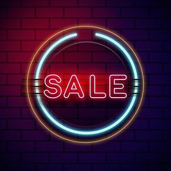 Неоновый знак продажи