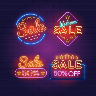 Neon sale signs collection