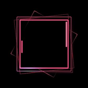 ネオンスクリーンのコンセプト。レーザー光の未来的な発表のベクトル図