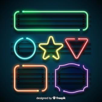 Set di forme al neon