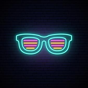 Neon shutter shades sunglasses.