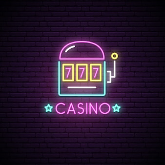 Neon sign of casino.