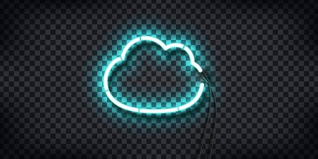 Neon sign of cloud