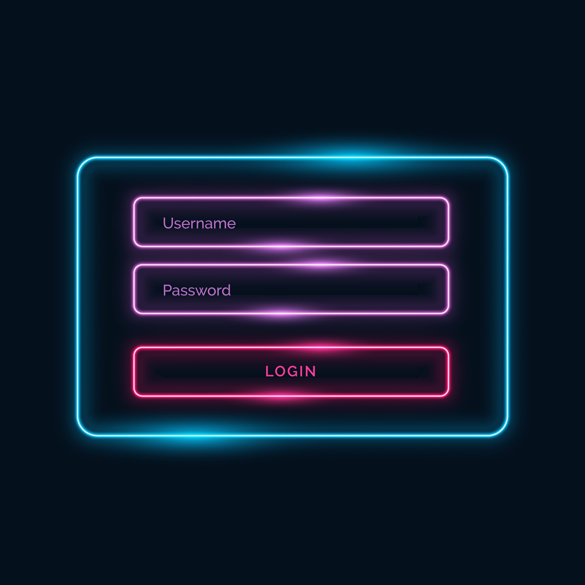 Neon sign in template