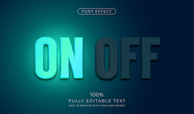 Neon sign text effect. editable font style